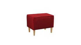 Podnóżek Pufa Fotel Uszak Kamea czerwony promocja wumex24