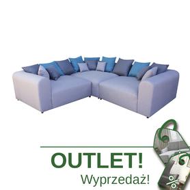 Szary Turkusowy Narożnik Laviva OUTLET WUMEX24