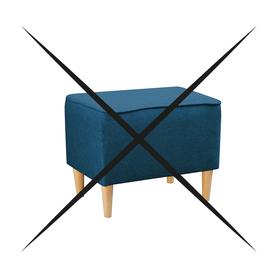 Pufa Podnóżek do Fotel Kamea niebieski PROMOCJA ZESTAW wumex24