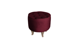 Pufa Podnóżek Velvet borodowy burgund rubin wybór nóżek PROMOCJA wumex24