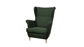 Fotel Kamea Uszak butelkowy zielony
