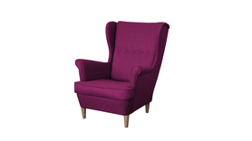 Fotel Kamea Uszak fioletowy WUMEX24