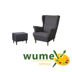Fotel Kamea Uszak z podnóżkiem zestaw szeroki wybór tkanin wybór nóżek PROMOCJA wumex24