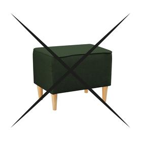 Pufa Podnóżek do Fotel Kamea butelkowy zielony PROMOCJA ZESTAW wumex24