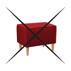 Pufa Podnóżek do Fotel Kamea czerwony PROMOCJA ZESTAW wumex24
