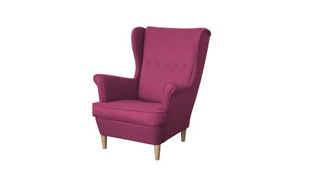 Fotel Kamea Uszak różowy WUMEX24