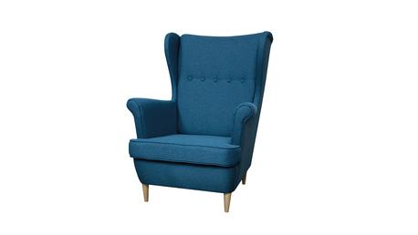 Fotel Kamea Uszak niebieski