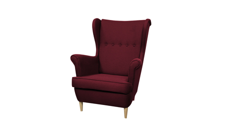 Fotel Kamea Uszak bordowy