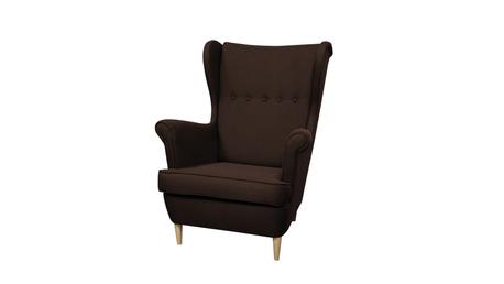 Fotel Kamea Uszak ciemny brązowy