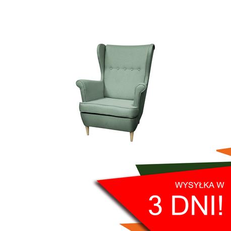 Fotel Kamea Uszak miętowy WUMEX24