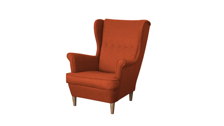 Fotel Kamea Uszak pomarańczowy WUMEX24