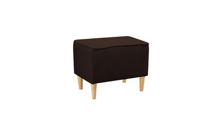 Podnóżek Pufa Fotel Uszak Kamea ciemny brązowy promocja wumex24