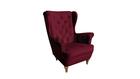 Fotel Velvet Uszak bordowy burgund rubin wybór nóżek PROMOCJA wumex24