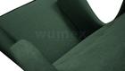 Fotel Kamea Uszak butelkowy zielony z pufą podnóżkiem ZESTAW