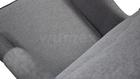 Fotel Kamea Uszak szary z pufą podnóżkiem ZESTAW