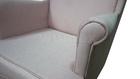 Fotel Kamea Uszak pudrowy różowy
