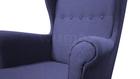 Fotel Kamea Uszak granatowy z pufą podnóżkiem ZESTAW