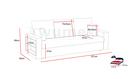 Kanapa Stelvio rozkładana z funkcją spania i pojemnikiem na pościel oraz półką