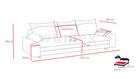 Kanapa Aspen rozkładana z funkcją spania i pojemnikiem na pościel