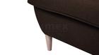 Fotel Kamea Uszak brązowy z pufą podnóżkiem ZESTAW
