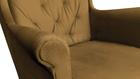 Fotel Velvet Uszak miodowy złoty żółty wybór nóżek PROMOCJA wumex24