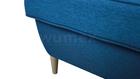 Fotel Kamea Uszak niebieski z pufą podnóżkiem ZESTAW